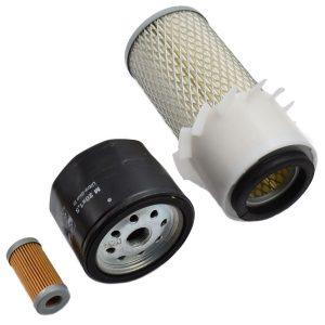 Filtersatz Shibaura SL1303, SL1343, SL1543, SL1743 Shibaura SL: SL1303 SL1343 SL1543 SL1743 Inhaltset: 1x kraftstoffilter 1x Ölfilter 1x Luftfilter